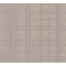 Livingwalls Vliestapete Metropolitan Stories karierte Tapete Ava New York beige metallic 379192 10,05 m x 0,53 m
