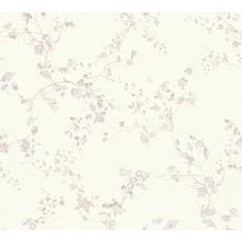 Livingwalls Vliestapete Metropolitan Stories Lola Paris Tapete Blumen floral lila weiß 368961 10,05 m x 0,53 m