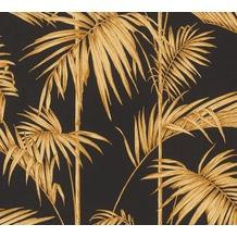 Livingwalls Vliestapete Metropolitan Stories Lola Paris metallic orange schwarz 369195 10,05 m x 0,53 m