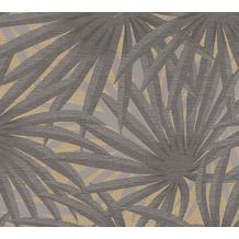 Livingwalls Vliestapete Metropolitan Stories Palmentapete Said Marrakesch grau metallic 378611 10,05 m x 0,53 m
