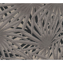Livingwalls Vliestapete Metropolitan Stories Palmentapete Said Marrakesch grau metallic schwarz 378612 10,05 m x 0,53 m