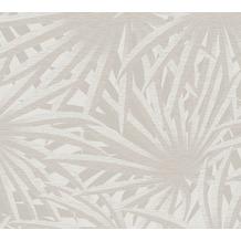 Livingwalls Vliestapete Metropolitan Stories Palmentapete Said Marrakesch grau metallic weiß 378614 10,05 m x 0,53 m
