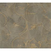 Livingwalls Vliestapete Metropolitan Stories Tapete mit Kreisen Nala Cape Town beige metallic schwarz 379003 10,05 m x 0,53 m