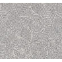 Livingwalls Vliestapete Metropolitan Stories Tapete mit Kreisen Nala Cape Town grau metallic weiß 379002 10,05 m x 0,53 m