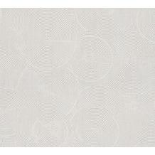 Livingwalls Vliestapete Metropolitan Stories Tapete mit Kreisen Nala Cape Town grau metallic weiß 379001 10,05 m x 0,53 m