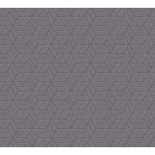 Livingwalls Vliestapete mit Glitter Metropolitan Stories Lizzy London grau metallic 369202 10,05 m x 0,53 m
