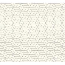 Livingwalls Vliestapete mit Glitter Metropolitan Stories Lizzy London grau metallic weiß 369203