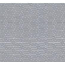 Livingwalls Vliestapete mit Glitter Metropolitan Stories Lizzy London grau metallic 369204 10,05 m x 0,53 m