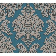 Livingwalls Vliestapete Glitter Metropolitan Stories Lizzy London beige blau metallic 368985 10,05 m x 0,53 m