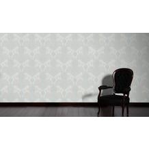 Livingwalls Vliestapete mit Glitter Neue Bude 2.0 glamouröse neo barocke Tapete beige braun grün 10,05 m x 0,53 m