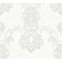 Livingwalls Vliestapete mit Glitter Neue Bude 2.0 glamouröse neo barocke Tapete weiß 361661 10,05 m x 0,53 m