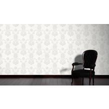 Livingwalls Vliestapete mit Glitter Neue Bude 2.0 glamouröse neo barocke Tapete weiß 10,05 m x 0,53 m