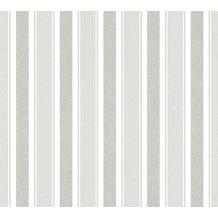 Livingwalls Vliestapete mit Glitter Neue Bude 2.0 Streifentapete grau weiß 361674 10,05 m x 0,53 m