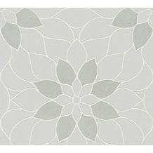Livingwalls Vliestapete mit Glitter Neue Bude 2.0 Tapete in floraler Optik grau 361721 10,05 m x 0,53 m
