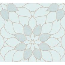Livingwalls Vliestapete mit Glitter Neue Bude 2.0 Tapete in floraler Optik grün 361714 10,05 m x 0,53 m