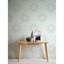 Livingwalls Vliestapete mit Glitter Neue Bude 2.0 Tapete in floraler Optik grün 10,05 m x 0,53 m