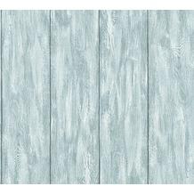 Livingwalls Vliestapete Neue Bude 2.0 Tapete in Holz Optik blau grau grün 361523 10,05 m x 0,53 m