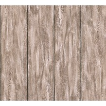 Livingwalls Vliestapete Neue Bude 2.0 Tapete in Holz Optik grau beige braun 361524 10,05 m x 0,53 m