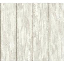 Livingwalls Vliestapete Neue Bude 2.0 Tapete in Holz Optik grau beige creme 361521