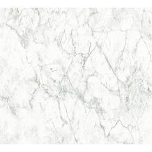 Livingwalls Vliestapete Neue Bude 2.0 Tapete in Marmor Optik weiß grau 361573 10,05 m x 0,53 m