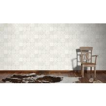 Livingwalls Vliestapete Neue Bude 2.0 Tapete in südländischer Fliesen Optik beige grau weiß 10,05 m x 0,53 m