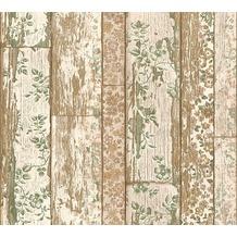 Livingwalls Vliestapete Neue Bude 2.0 Tapete in Vintage Holz Optik beige grau creme 361192 10,05 m x 0,53 m