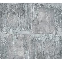 Livingwalls Vliestapete Neue Bude 2.0 Tapete in Vintage Rost Optik metallic grau schwarz 361183 10,05 m x 0,53 m