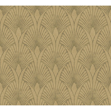 Livingwalls Vliestapete New Walls Tapete 50's Glam Art Deco Optik metallic braun beige 374272 10,05 m x 0,53 m