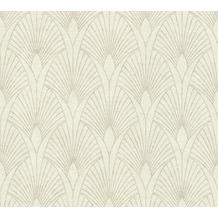 Livingwalls Vliestapete New Walls Tapete 50's Glam Art Deco Optik metallic creme weiß 374271