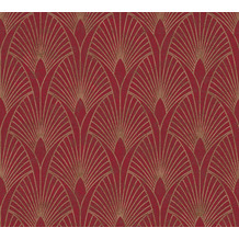 Livingwalls Vliestapete New Walls Tapete 50's Glam Art Deco Optik metallic rot 374274 10,05 m x 0,53 m