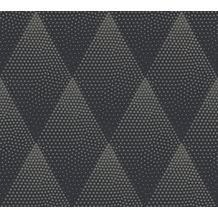 Livingwalls Vliestapete New Walls Tapete 50's Glam geometrisch grafisch schwarz metallic 374193 10,05 m x 0,53 m