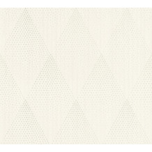 Livingwalls Vliestapete New Walls Tapete 50's Glam geometrisch weiß grau metallic 374192 10,05 m x 0,53 m