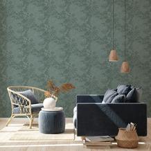 Livingwalls Vliestapete New Walls Tapete Cosy & Relax in Ast Optik grün 10,05 m x 0,53 m