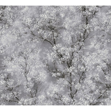 Livingwalls Vliestapete New Walls Tapete Cosy & Relax mit Kirschblüten weiß schwarz grau 374201