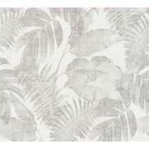 Livingwalls Vliestapete New Walls Tapete Cosy & Relax Palmenblätter beige braun creme 373962 10,05 m x 0,53 m