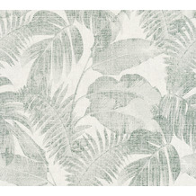 Livingwalls Vliestapete New Walls Tapete Cosy & Relax Palmenblätter creme beige grün 373964 10,05 m x 0,53 m