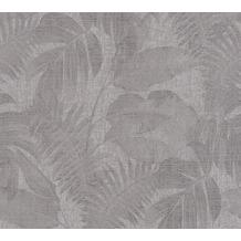 Livingwalls Vliestapete New Walls Tapete Cosy & Relax Palmenblätter grau beige braun 373961 10,05 m x 0,53 m