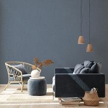 Livingwalls Vliestapete New Walls Tapete Cosy & Relax Uni blau 10,05 m x 0,53 m