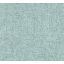 Livingwalls Vliestapete New Walls Tapete Cosy & Relax Uni blau grün 374233 10,05 m x 0,53 m