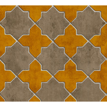 Livingwalls Vliestapete New Walls Tapete Finca Home in Fliesen Optik gelb beige creme 374212 10,05 m x 0,53 m