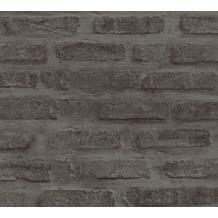 Livingwalls Vliestapete New Walls Tapete Loft Living schwarz grau 374223