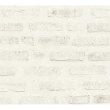 Livingwalls Vliestapete New Walls Tapete Loft Living Vintage Backstein Optik weiß grau 374222 10,05 m x 0,53 m