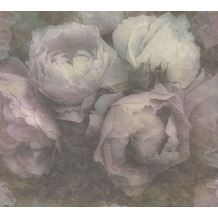 Livingwalls Vliestapete New Walls Tapete Romantic Dream mit romantischen Rosen grün lila 373921