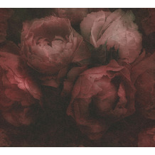 Livingwalls Vliestapete New Walls Tapete Romantic Dream romantische Rosen rot schwarz 373924 10,05 m x 0,53 m