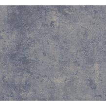 Livingwalls Vliestapete New Walls Tapete Urban Grace Vintage Uni Optik blau grau 374255 10,05 m x 0,53 m