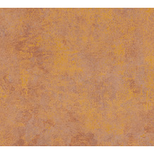 Livingwalls Vliestapete New Walls Tapete Urban Grace Vintage Uni Optik braun orange 374253 10,05 m x 0,53 m