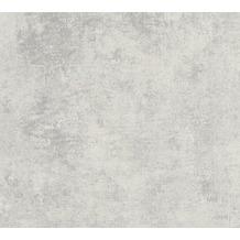 Livingwalls Vliestapete New Walls Tapete Urban Grace Vintage Uni Optik grau metallic 374254 10,05 m x 0,53 m
