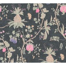 Livingwalls Vliestapete Paradise Garden Tapete in Dschungel Optik rosa schwarz braun 367197 10,05 m x 0,53 m