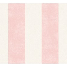 Livingwalls Vliestapete Paradise Garden Tapete mit Blockstreifen rosa creme 367184 10,05 m x 0,53 m