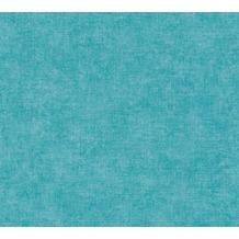 Livingwalls Vliestapete Paradise Garden Tapete Uni blau grün 367211 10,05 m x 0,53 m